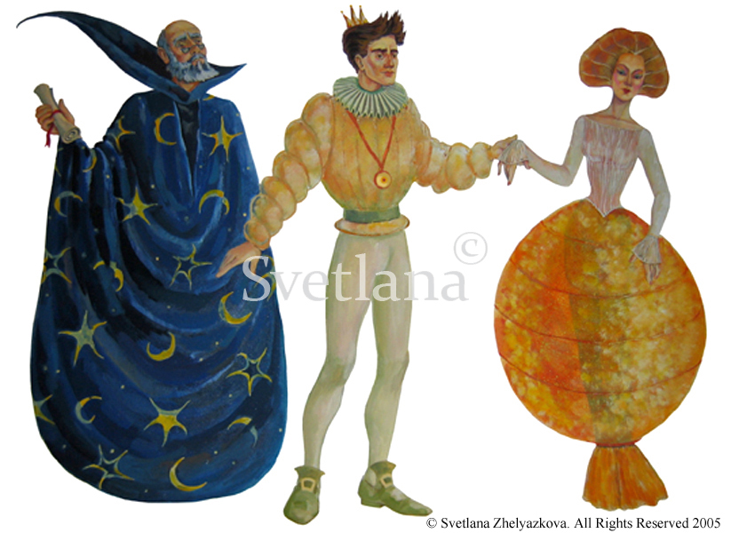 Celio, The Prince, and Princess Ninetta Costumes